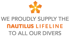 We proudly supply the Nautilus LifeLine to ensure our diver's safety