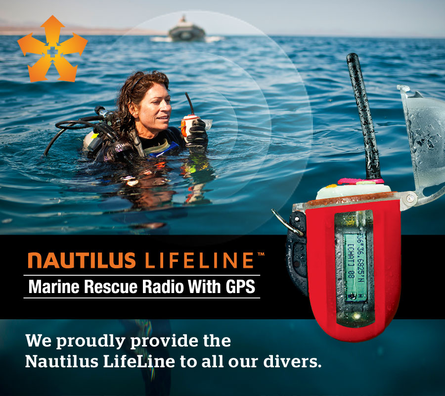 Woman using the Nautilus Lifeline GPS to call for help