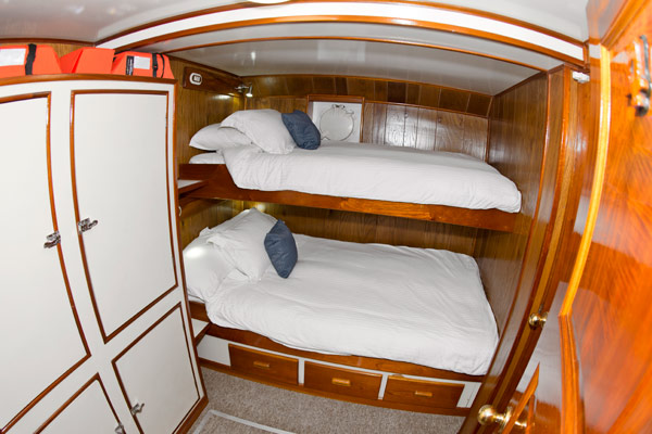 Comfortable staterooms on the Nautilus Under Sea