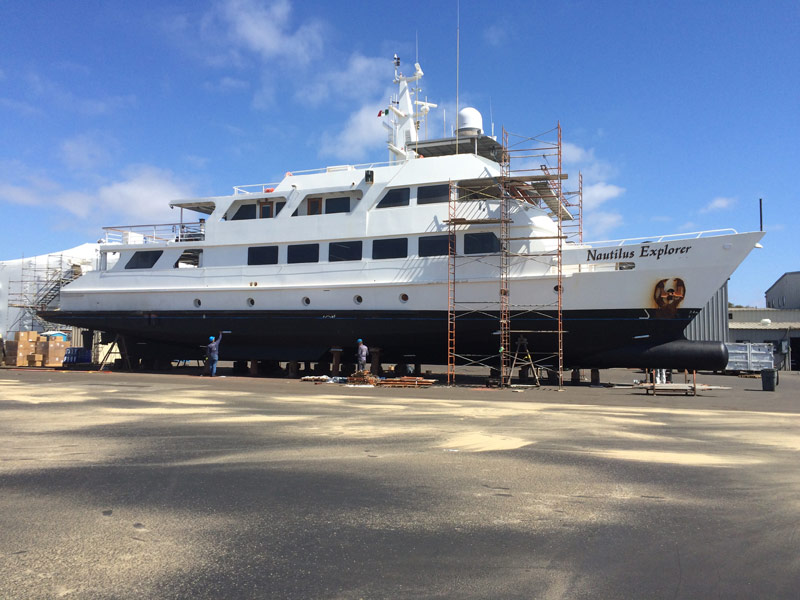 the Nautilus Explorer at the shipyard for it's annual refit!
