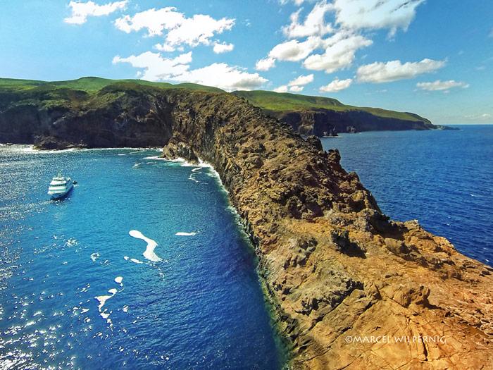 The nautilus belle amie along the beautiful blue coast