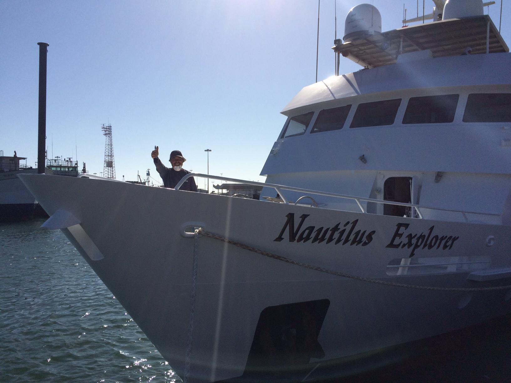 Hernan on the Nautilus Explorer
