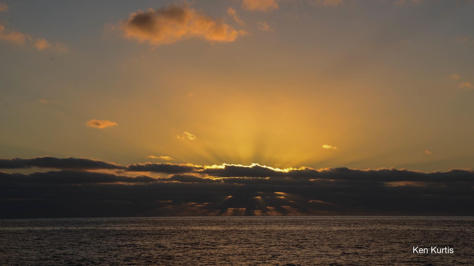 Sunrise at Guadalupe Island