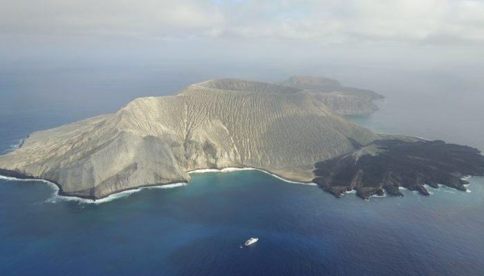 San Benedicto island aerial photograph