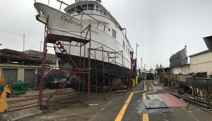 Undersea Hunter begins refit