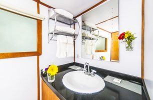Clean and shiny bathrooms are found onboard the Nautilus Under Sea
