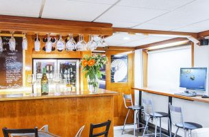 Our fully stocked bar on the beautiful Nautilus Explorer