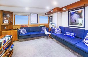 The salon on the Nautilus Under Sea is spacious and comfortable