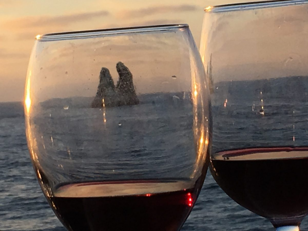 roca partida as seen through two lovely glasses of wine!