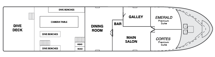 Belle Amie Main Deck Floor Plan
