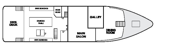 Plan d'étage du pont principal Explorer
