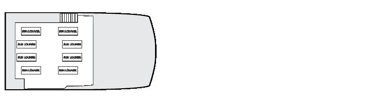 Plan d'étage de la terrasse ensoleillée Explorer