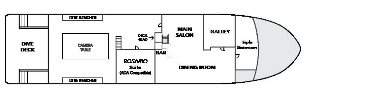 UnderSea Plan d'étage du pont principal