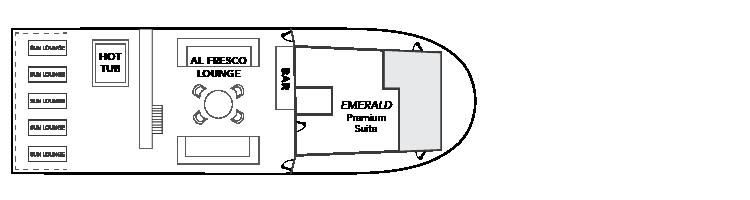 UnderSea Plan d'étage de la terrasse ensoleillée